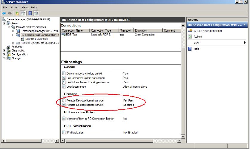How to configure a Remote Desktop license server for vSpace 6