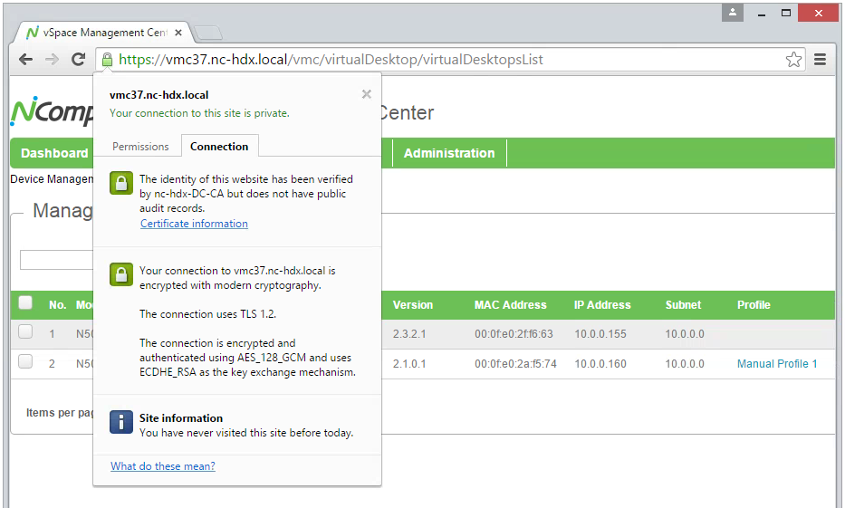Installing Signed Certificates Into Vspace Management Center Appliance